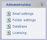 Admin - Folder Settings