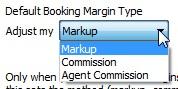Default Booking Margin Type