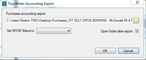 TourWriter Accounting Export