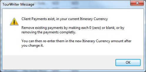 Currency Warning