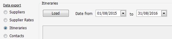 Export Date Range