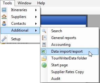 Location of Data Import-Export