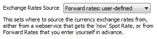 User-defined Forward Rates