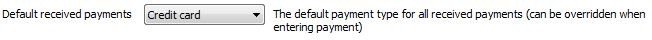 Accounting Software - Default received payments