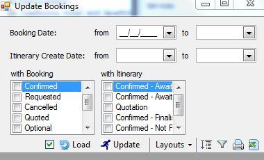 Bulk Update - Update Bookings
