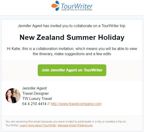 Collaboration Email invite