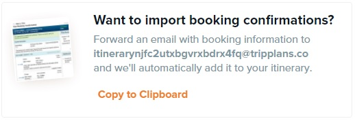 Import Booking Confirmations
