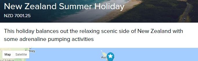 Itinerary Description