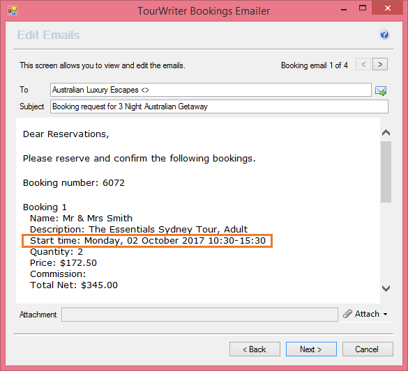 activities email booking request template tourwriter knowledge base